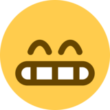 Grinning Face With Smiling Eyes on Twitter Twemoji 2.0