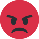 Pouting Face on Twitter Twemoji 2.0