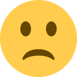 Slightly Frowning Face on Twitter Twemoji 2.0