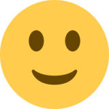 Slightly Smiling Face on Twitter Twemoji 2.0