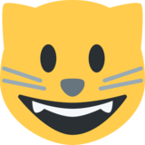 Smiling Cat Face With Open Mouth on Twitter Twemoji 2.0