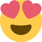 Smiling Face With Heart-Eyes on Twitter Twemoji 2.0