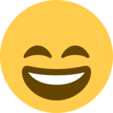 Smiling Face With Open Mouth & Smiling Eyes on Twitter Twemoji 2.0