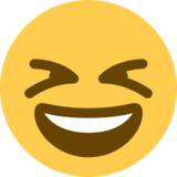 Smiling Face With Open Mouth & Closed Eyes on Twitter Twemoji 2.0