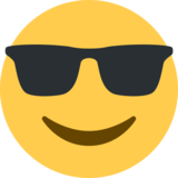 Smiling Face With Sunglasses on Twitter Twemoji 2.0