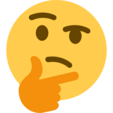 Thinking Face on Twitter Twemoji 2.0