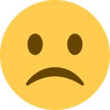 Frowning Face on Twitter Twemoji 2.0
