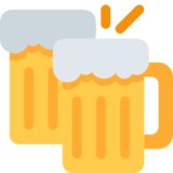 Clinking Beer Mugs on Twitter Twemoji 2.1