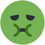 Nauseated Face on Twitter Twemoji 2.1