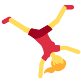 Person Cartwheeling on Twitter Twemoji 2.1