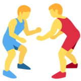 People Wrestling on Twitter Twemoji 2.1.2