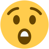 Astonished Face on Twitter Twemoji 2.2