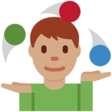 Man Juggling: Medium Skin Tone on Twitter Twemoji 2.2