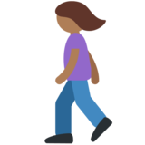 Woman Walking: Medium-Dark Skin Tone on Twitter Twemoji 2.2