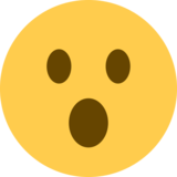 Face With Open Mouth on Twitter Twemoji 2.2.3