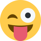 Face With Stuck-Out Tongue & Winking Eye on Twitter Twemoji 2.2.3