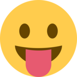 Face With Stuck-Out Tongue on Twitter Twemoji 2.2.3