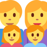 Family: Man, Woman, Girl, Boy on Twitter Twemoji 2.2.3