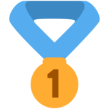 1st Place Medal on Twitter Twemoji 2.2.3