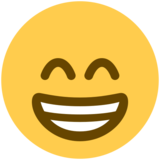 Grinning Face With Smiling Eyes on Twitter Twemoji 2.2.3