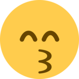 Kissing Face With Smiling Eyes on Twitter Twemoji 2.2.3