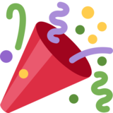 Party Popper on Twitter Twemoji 2.2.3