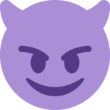 Smiling Face With Horns on Twitter Twemoji 2.2.3