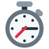 Stopwatch on Twitter Twemoji 2.2.3