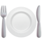 Fork and Knife With Plate on Apple