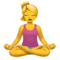 Woman in Lotus Position on Apple