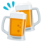 Clinking Beer Mugs on EmojiOne