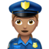 Woman Police Officer: Medium Skin Tone