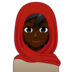 Person With Headscarf: Dark Skin Tone