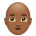 Man, Bald: Medium-Dark Skin Tone