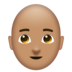 Man, Bald: Medium Skin Tone