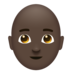 Man, Bald: Dark Skin Tone