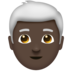 Man, White Haired: Dark Skin Tone