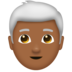 Man, White Haired: Medium-Dark Skin Tone