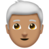 Man, White Haired: Medium Skin Tone