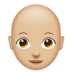 Woman, Bald: Medium-Light Skin Tone