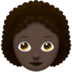 Woman, Curly Haired: Dark Skin Tone