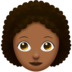 Woman, Curly Haired: Medium-Dark Skin Tone