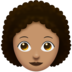 Woman, Curly Haired: Medium Skin Tone