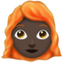 Woman, Red Haired: Dark Skin Tone