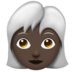 Woman, White Haired: Dark Skin Tone