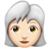 Woman, White Haired: Light Skin Tone