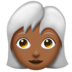 Woman, White Haired: Medium-Dark Skin Tone