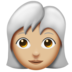 Woman, White Haired: Medium-Light Skin Tone