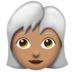 Woman, White Haired: Medium Skin Tone