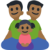 Family - Man: Medium-Dark Skin Tone, Man: Medium-Dark Skin Tone, Girl: Medium-Dark Skin Tone